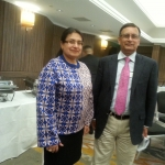 With Husain Haqqani